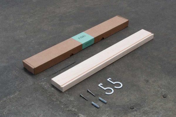 Figr1 Wooden Wall Shelf 50 Hard Maple Packaging